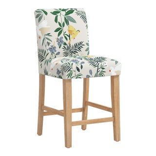 Counter Stool in Belize Chinoiserie Cream For Sale
