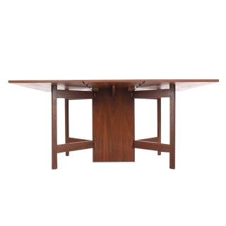 George Nelson Walnut Drop Leaf Dining Table Gate Leg For Sale