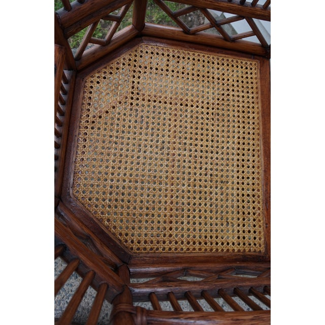 Chinese Chippendale Bamboo Brighton Pavilion Chairs - a Pair For Sale - Image 9 of 13