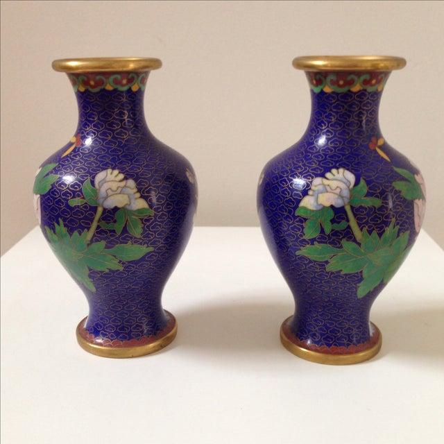 Cloisonné Vases - A Pair - Image 6 of 8