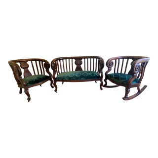 American Empire Parlor Seating - Set of 3 For Sale