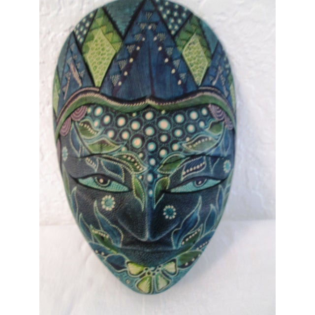 Ornate Decorative Hanging Masks - S/3 - Image 3 of 9