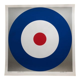 1975 Pop Art Chuck Smith Henlow Navy Insignia Silkscreen For Sale