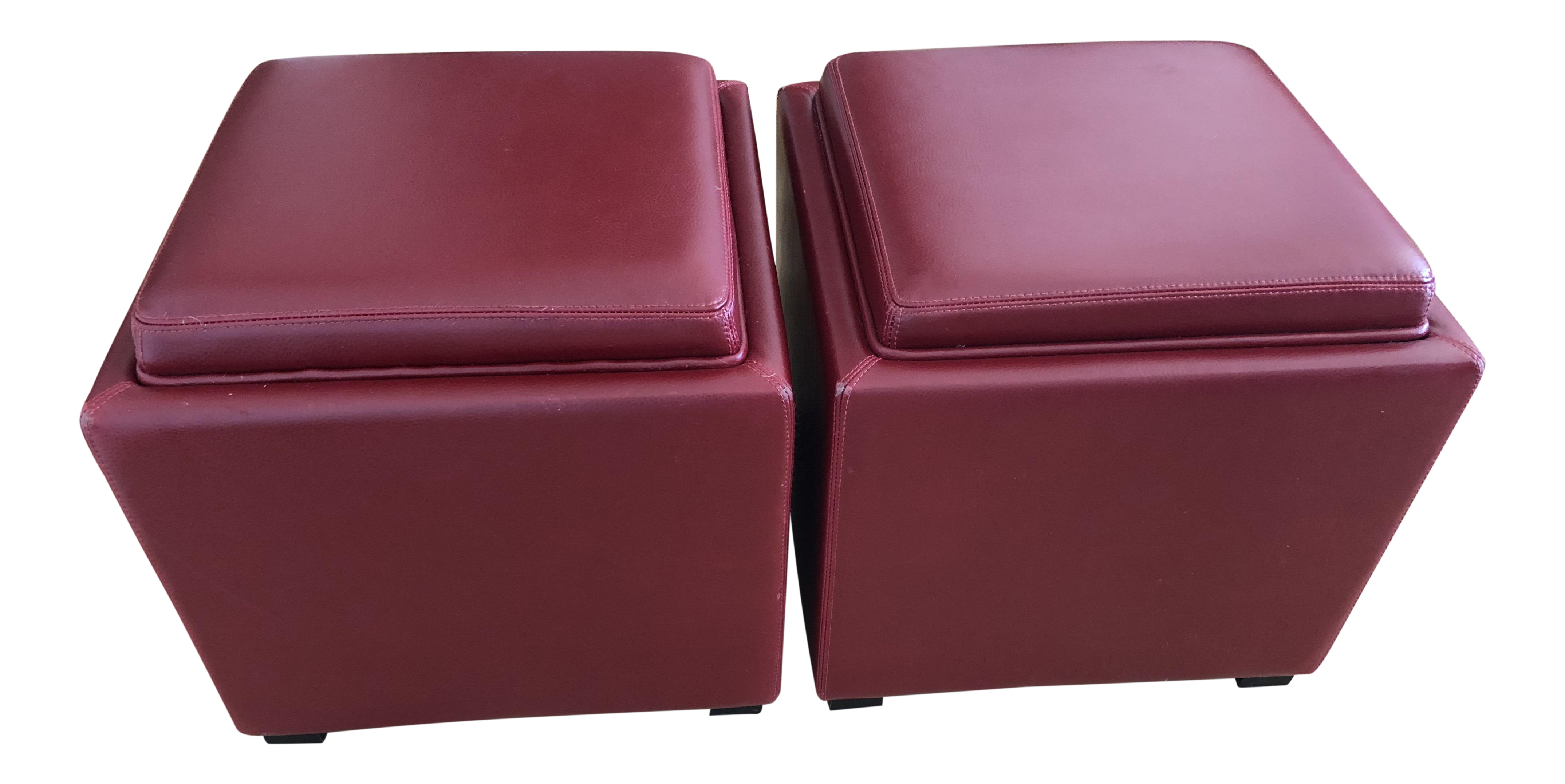 Superieur Stow Leather Storage Ottoman