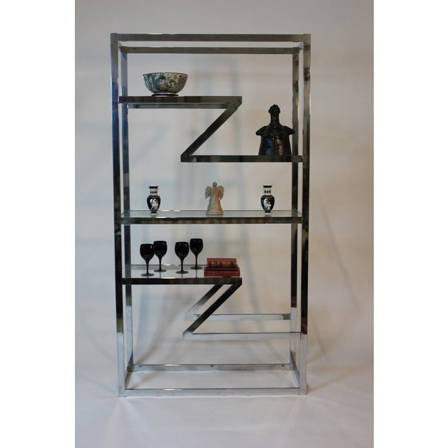 70's Chrome and Glass Etagere - Image 3 of 5