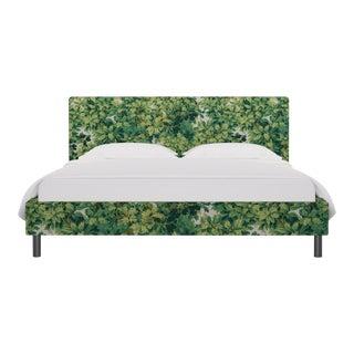 California King Tailored Platform Bed In Verdure Bois De Chene By Old World Weavers For Sale