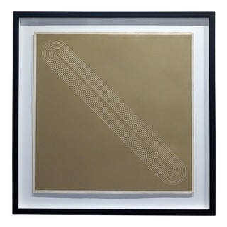 Original 1971 Tony DeLap Minimalist Brown Box Signed Screen Print For Sale