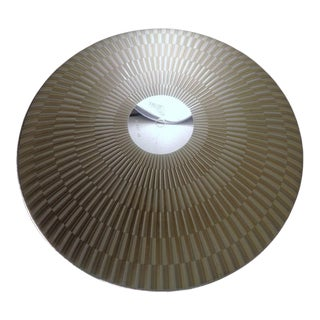 Large 1950's Atomic Modern Glass Light Shade For Sale