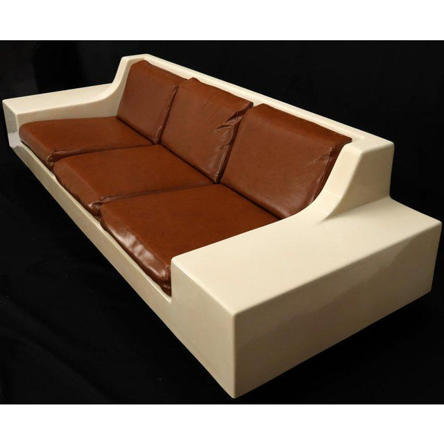 Mid-Century Modern Mid-Century Modern 3-Seat Fiberglass Sofa With End Tables For Sale - Image 3 of 13
