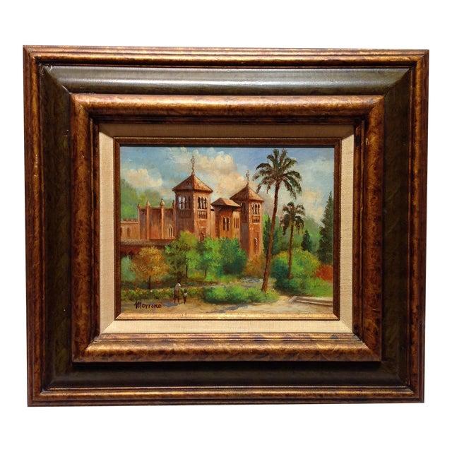 Plaza De America, Seville Spain - Oil Painting For Sale