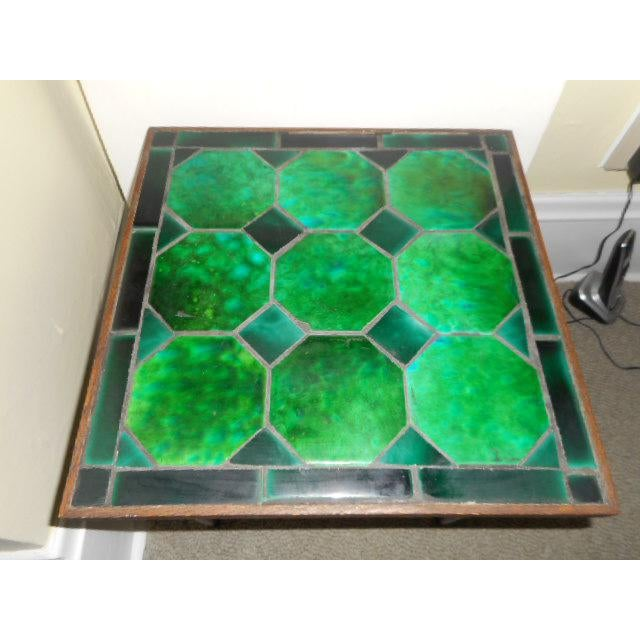 Mid Century Danish Tile Green Side Table - Image 7 of 7