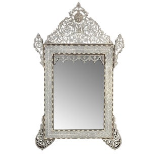 Syrian Mother of Pearl Inlay Mirror For Sale