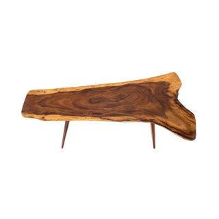 Live Edge Organic Shape Long Board Coffee Table For Sale