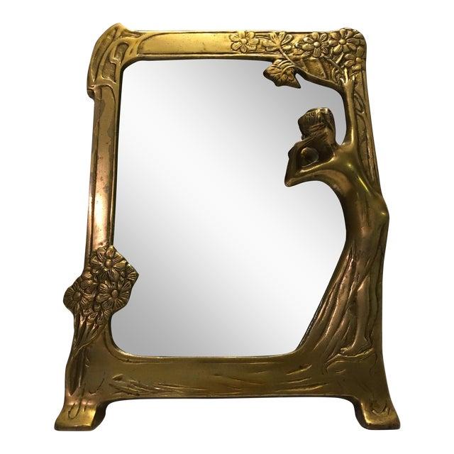 Antique Art Nouveau Vanity Mirror - Image 1 of 6