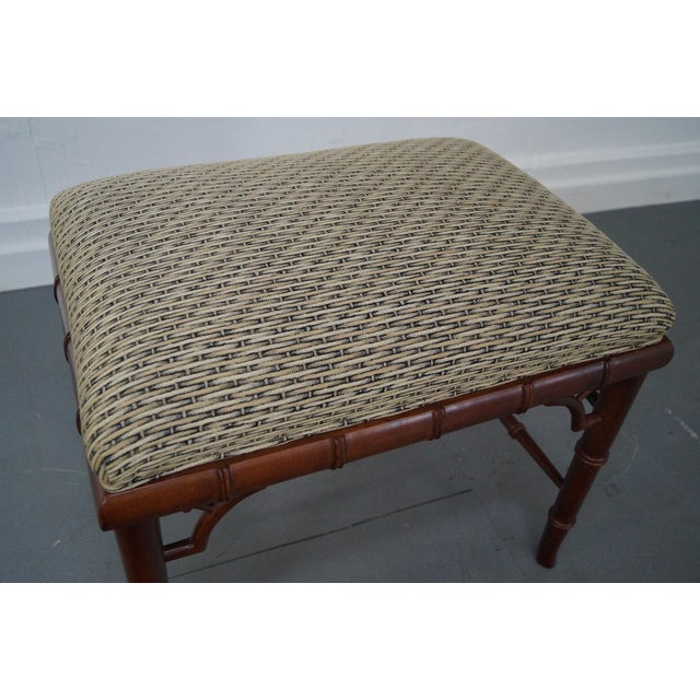 Councill Craftsman Faux Bamboo Ottoman - Image 5 of 10