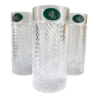 Ralph Lauren Herringbone Tumblers - Set of 4 For Sale