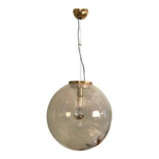 1970s Italian Large Poligoso Globe Pendant Light For Sale