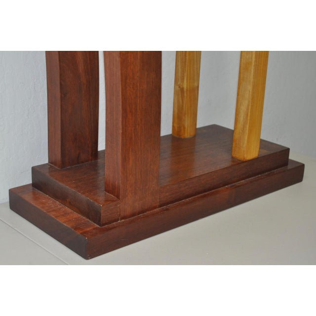 Dia Ates Hardwood Pedestal For Sale In San Francisco - Image 6 of 8