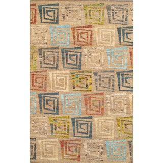 Pasargad Modern Collection Patterned Rug - 5' x 8' For Sale
