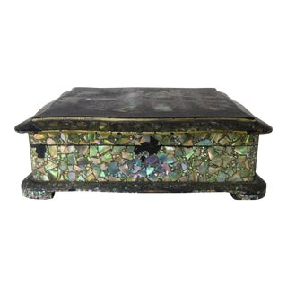 Abalone and Mother of Pearl Jewelry Box, Circa 1880s For Sale