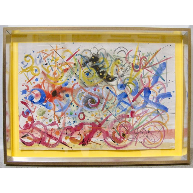 PRICE FIRM! LAST CHANCE! ITEM WILL BE REMOVED IN 30 DAYS This is a stunning Original Mixed Media Painting on Paper by...