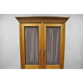 Antique Victorian Golden Oak Bookcase Hutch Buffet China Cabinet Preview