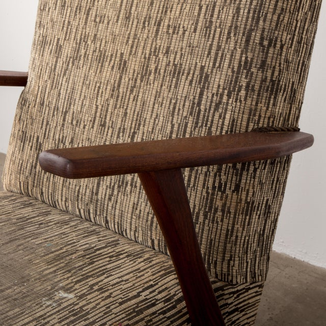 1960s 1960s Mid-Century Modern High-Back Chair For Sale - Image 5 of 8