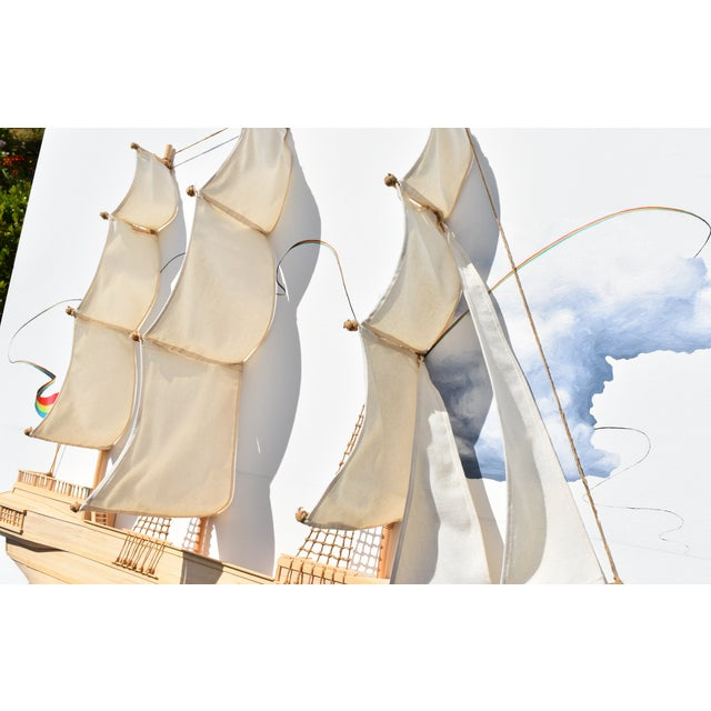 Weston Jandacka 'Sail Boat No. 2' 3D Sculpture Painting For Sale In Seattle - Image 6 of 13
