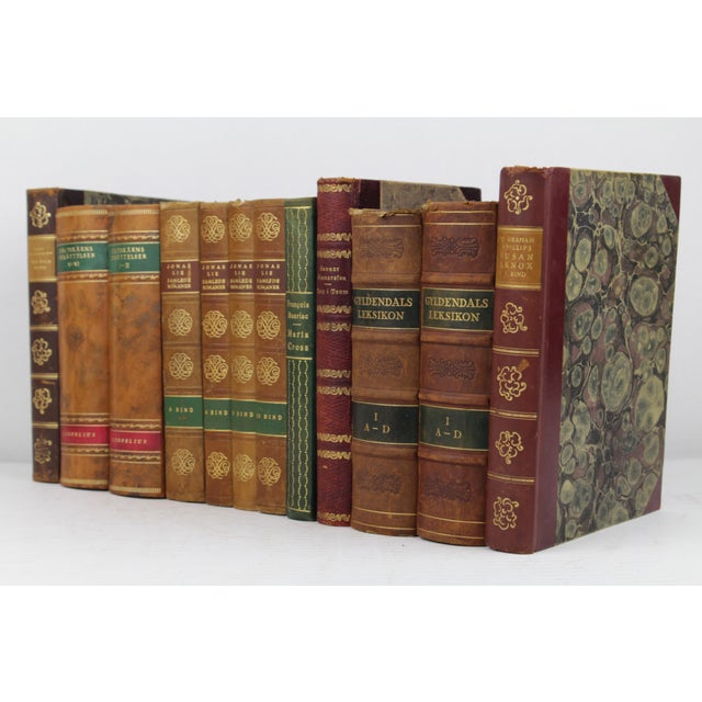 Art Deco Leather-Bound Books - Set of 12 - Image 3 of 4