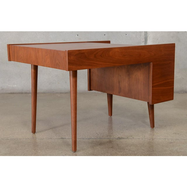 Glenn of California Milo Baughman for Glenn of California Walnut Side Table For Sale - Image 4 of 6