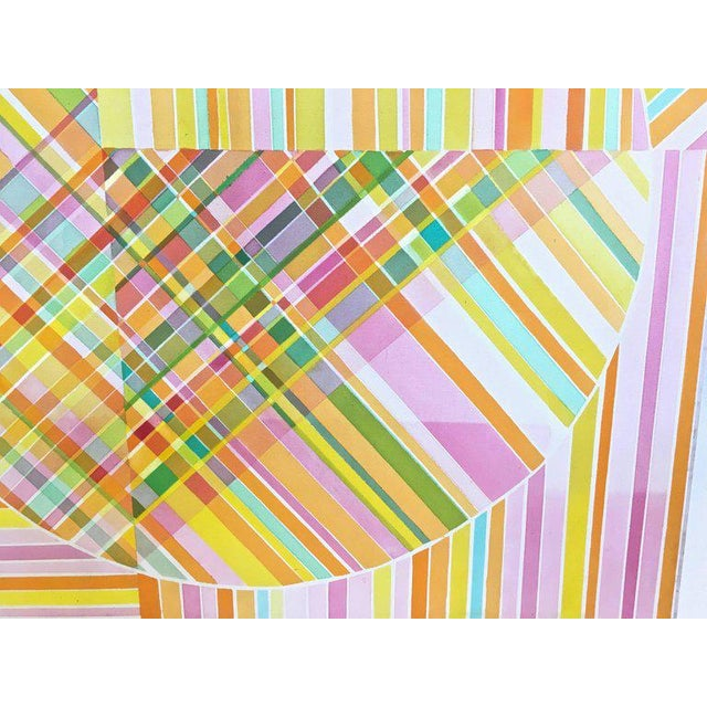 Mid-Century Modern Hard Edge Optical Art Painting, Signed, Circa 1960s For Sale In New York - Image 6 of 13