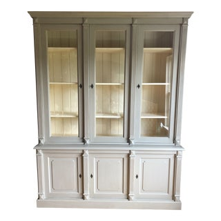 20th Century French Light Grey With Off White Interior For Sale