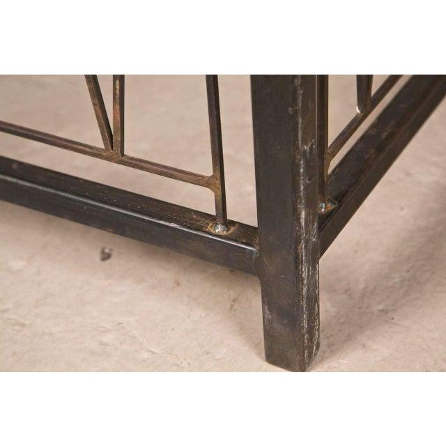 A Deigo Giacometti Style Metal Base Desk - Image 4 of 8