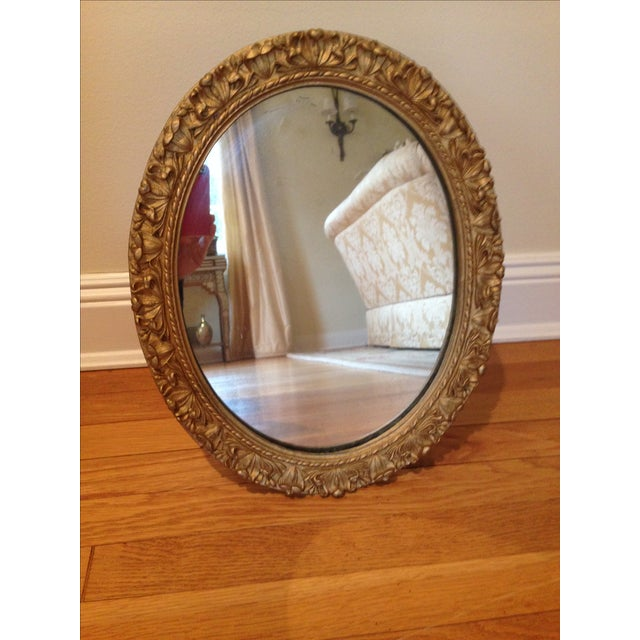 Gilded Oval Mirror - Image 2 of 4
