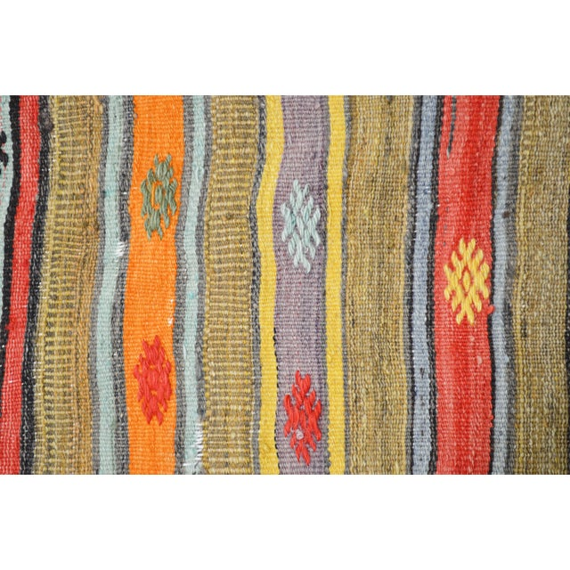 """1950s Vintage Turkish Anatolian Hand Knotted Organic Wool Fine Weave Kilim,5'x8'5"""" For Sale - Image 5 of 6"""