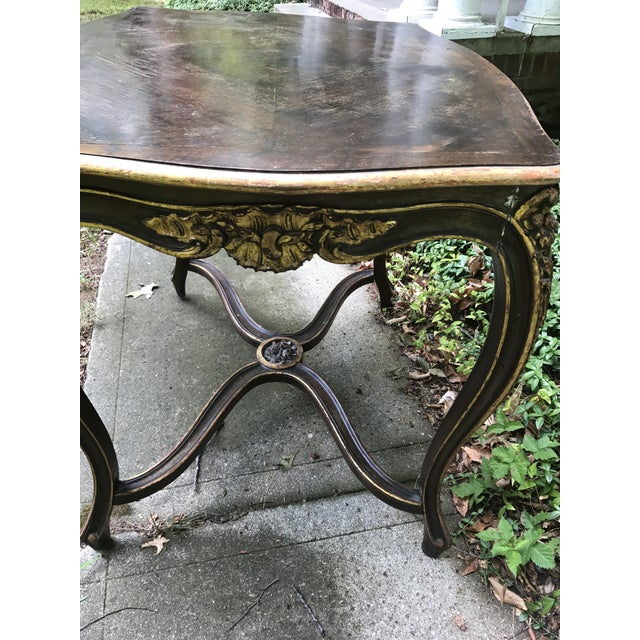 Antique Louis IV French Rococo Console Entry Table For Sale - Image 5 of 11