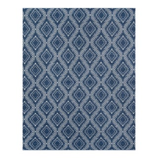 Erin Gates by Momeni Easton Pleasant Navy Indoor/Outdoor Hand Woven Area Rug - 7′6″ × 9′6″