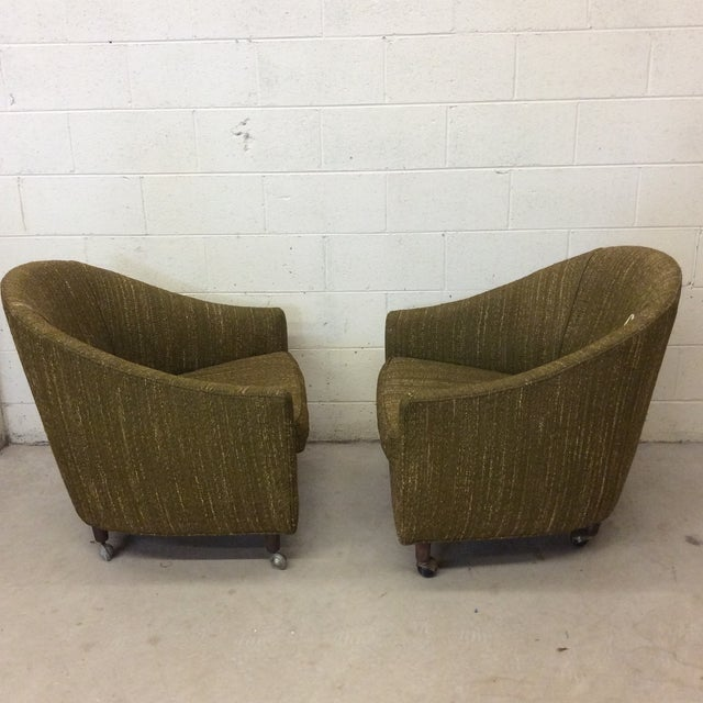 Richardson Nemschoff Horshoe Shaped Chairs - a Pair For Sale - Image 12 of 13