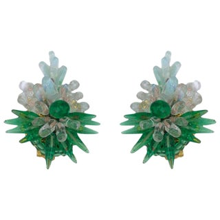 Rousselet Poured Glass Earrings For Sale