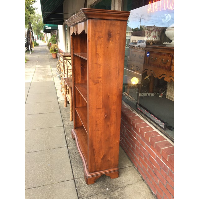 Large Solid Walnut Bookcase - Image 4 of 6