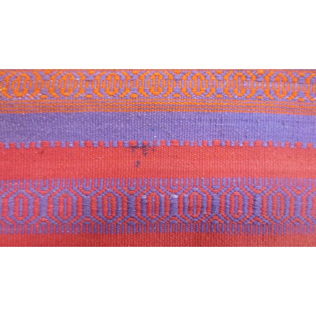 "Orange & Pink Woven Rug- 3'4"" X 6' - Image 4 of 7"