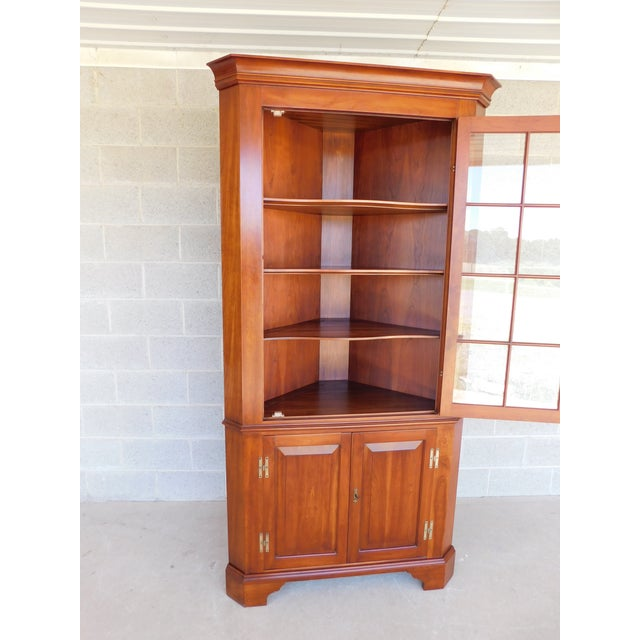 Features Fine Quality Solid Construction, Solid Cherry Wood, , with Key - Approx 53 Years Old ( Cabinet is Not Lighted )...
