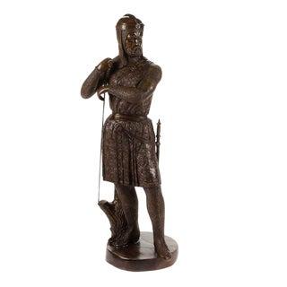 "Bronze Crusader Knight Warrior 41"" For Sale"