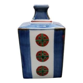 Japanese Porcelain Meishan Kiln Kaku-Bin Sake Bottle For Sale