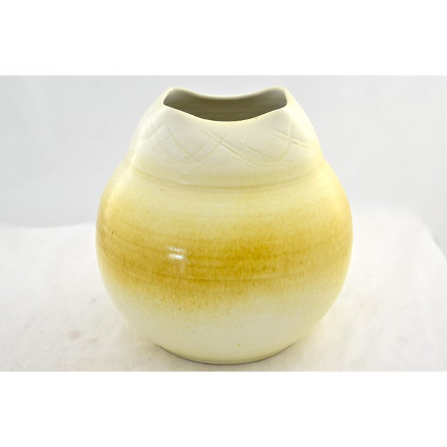 Yellow Ombre Studio Pottery Urn - Image 2 of 7