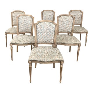 Set of 6 Antique French Louis XVI Dining Chairs For Sale