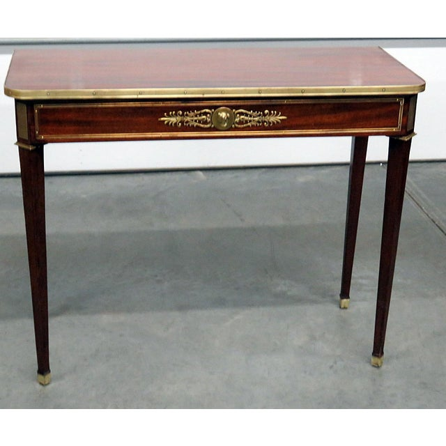 Metal Directoire Style Console Table For Sale - Image 7 of 7