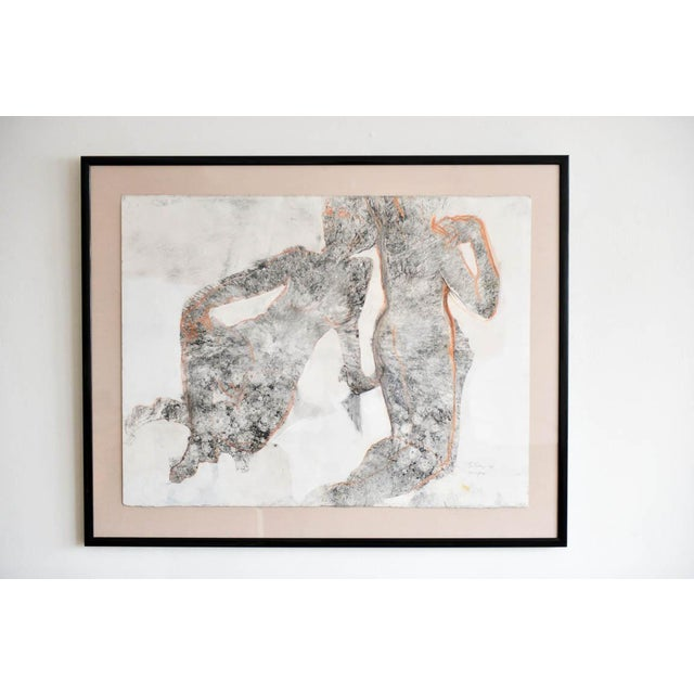 Charcoal Abstract Charcoal and Pencil 'Yin and Yang' Drawing by Bernice Riley For Sale - Image 7 of 7