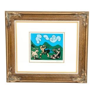 "Pablo Picasso ""Dancing Animals"" Color Linocut Print For Sale"