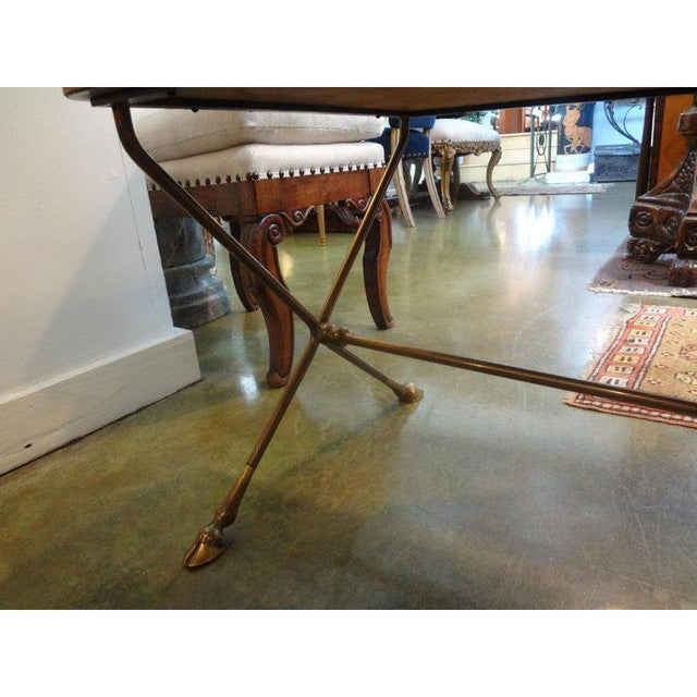 French 1940s Vintage French Maison Bagues Style Bronze Coffee Table For Sale - Image 3 of 9